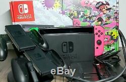 Nintendo Console Commutateur 32gb / Neon Vert Et Rose Joy-con / Dock De Chargement / Mural