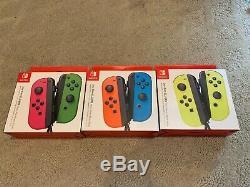 Nintendo Joy-cons Rouge / Bleu Rose / Vert Et Jaune Scellé