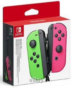 Nintendo Set 2 Joy Basculez-con Contrôleur Neon Vert / Rose Fluo Paire (splatoon)