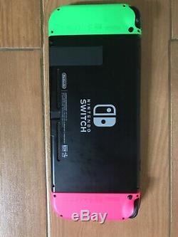 Nintendo Switch 32 Go Avec Joycons, Contrôleur Et Smash Ultimate Verts Et Roses