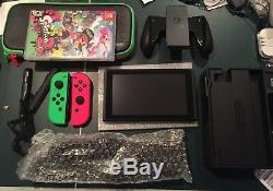 Nintendo Switch Console Splatoon 2 Bundle Vert Neon / Rose Néon Joy-cons & Game