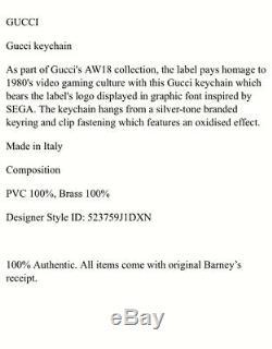 Nouveau Authentique Gucci Sega Keychain Unisexe Rose Vert Objets De Collection Sold Out 225 $