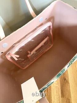 Nouveau Bogg Bag Limited Edition Palm Imprimer Large T.n.-o. Livraison Gratuite Rose