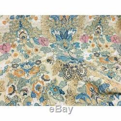 Nouveau! Feutrée Chic Blue Cottage Teal Aqua Vert Rose Jaune Floral Doux Set Quilt