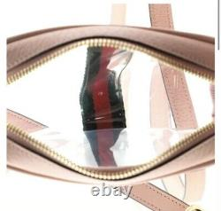 Nouveau Gucci Authentic Femme Ophidia Crossbody Mini Bag Clear Pink Green Red Gg