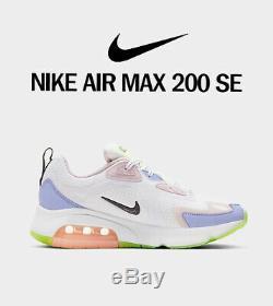 Nouveau Nike Air Max 200 Se Chaussures Casual Cu4769-100 Blanc Rose Taille De Green 9 Femmes