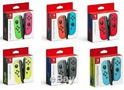 Nouveau Officiel Nintendo Commutateur Joycon Joycon L & R Bleu Rouge Rose Vert Neon