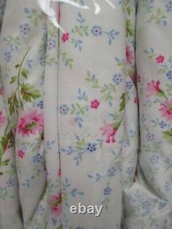 Nouveau Ralph Lauren Coton Blanc Rose Bleu Vert Floral Set King Cal Feuille