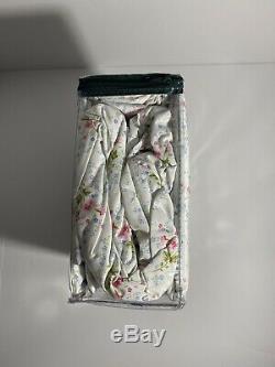 Nouveau Ralph Lauren Coton Blanc Rose Floral Bleu Vert Feuille Set King