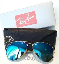 Nouveau Ray-ban Aviator Rb3025 Verres Miroir Flash Vert Bleu Orange Rose