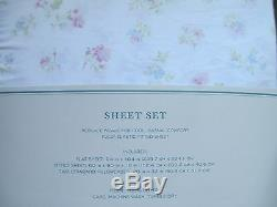 Nouveau Simplement Shabby Chic Blanc Candy Rose Vert Bleu Floral Ensemble De Draps Reine
