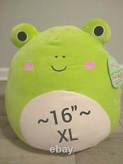 Nouveau XL 16 Wendy The Green Frog Pink Cheeks Rare Collectible Soft Peluche Cadeau