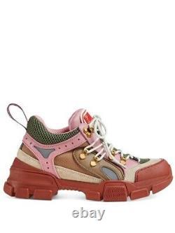 Nouvelles Baskets Gucci Flashtrek Pink/tan/brown/green Hiker Dad 38.5eu/8.5us $980.00