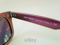 Nouvelles Lunettes De Soleil Authentiques Ray-ban Wayfarer Rose Cosmo Jupiter Green Flash Rb2140