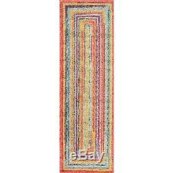 Nuloom Contemporain Moderne Multi Tapis En Jaune, Rose, Bleu, Vert