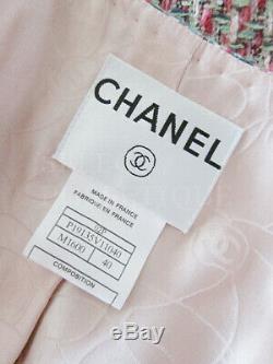 Nwot De Rose Blanc Vert Tweed 4 Pocket Classique Veste Fr40