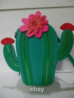 Nwot Kate Spade Green & Rose Blooming Cactus Crossbody Sac À Main Sac À Main Purse