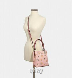 Nwt Coach Small Town Bucket Bag 2310 Sac À Main Fourre-tout Dandelion Floral