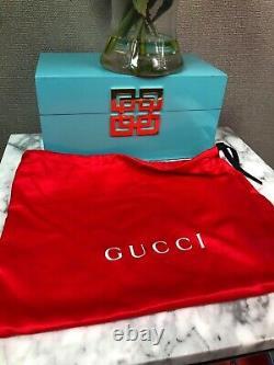 Nwt Gucci Trapuntata Med Camera Sac À Bandoulière Matelassé En Cuir Métallisé Crossbody