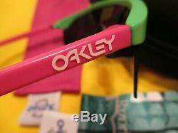 Oakley Lames De Rasoir Green Frame W Feu D'objectif Et Rose Lunettes De Soleil Nouveau Potences Droite