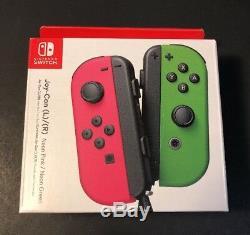 Officiel Nintendo Commutateur Joy-con Set Neon Neon Rose & Green New