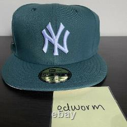 Pacsun New Era Fitted New York Yankees 1999 Ws Green Pink Hat Club Taille 7 1/4