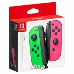 Paire De Contrôleur Nintendo Switch Joy-con (néon Vert/néon Rose)