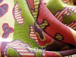 Par Maison Yard Clarence Amélie Amelie Linge Velours Hot Pink Green Pdsf 300 $ ++