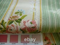 Par Yd Lee Jofa Valentina Lampas Clover Green & Pink Rose Lampas Msrp$396/y