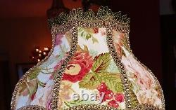 Parlour Victorian Downton Lampshade Reds Pinks Green Linen, 12 2 Disponible