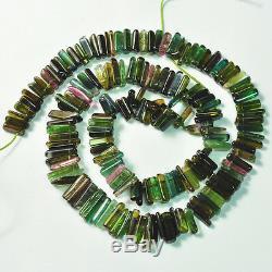 Perles De Cristal De Tourmaline Lisses Roses, Bleues, Vertes, 16 Pouces