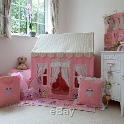 Pink Gingerbread Cottage Enfants Playhouse / Jouer Tente Par Win Fille Verte