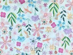 Poterie Grange Enfants Naomi Floral Organic Ensemble De Feuilles Entières Bleu Rose Lavande Vert