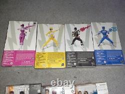 Power Rangers Lightning Collection Mighty Morphin Vert Blanc Rose Bleu Noir Noir
