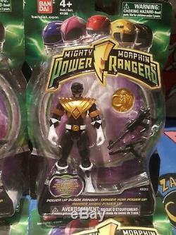 Power Rangers Mighty Morphin 2010 La Mise Sous Tension Ensemble De 6 Rose Vert Jaune Bleu Noir