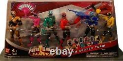Power Rangers Samurai 4' Or Rose Rouge Vert Bleu Jaune Nouvelle Usine Scellée 2011