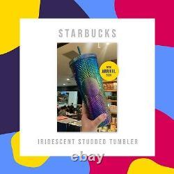 Presale Singapour 2020 Starbucks Clouté Tumbler Venti 24 Oz Rose Et Vert