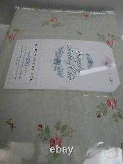 Rachel Ashwell Simply Shabby Chic Rose Vert Rose Ensemble De Feuille Florale Reine