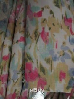 Ralph Lauren Aquarelle Printemps Rose Vert Bleu Jaune Floral Ensemble De Draps Roi