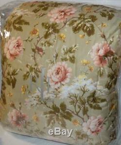 Ralph Lauren Yorkshire Rose Floral Vert 6p Roi Ensemble Douillette Nouveau Rose