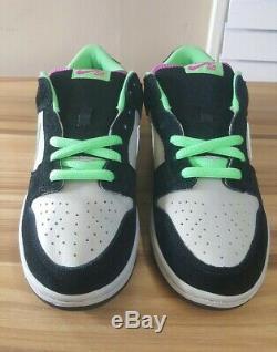 Rare Magnet Nike Dunk Low Pro Sb 2009 / Vert Poison / Rose / Gris # 304292 033 Us 10