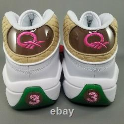 Reebok Question MID X Candy Land Basketball Chaussures Hommes Taille 12 Blanc Vert Rose