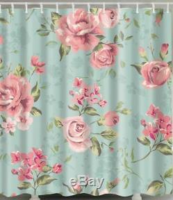 Rideau De Douche En Polyester Avec Rideaux De Douche Roses Et Roses