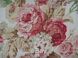 Rideau Mulberry / Tissu De Conception Vintage Floral 3.6 Mètres Rose / Vert