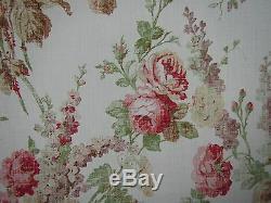 Rideau / Tapisserie Mulberry Design Vintage Floral 3 Metres Rose / Vert