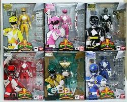 S. H. Figuarts Mighty Morphin Power Rangers Jaune, Rose, Noir, Rouge, Bleu, Vert