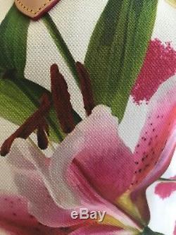 Sac Fourre-tout Floral Rose Et Vert Authentique Dooney & Bourke Des Territoires Du Nord-ouest