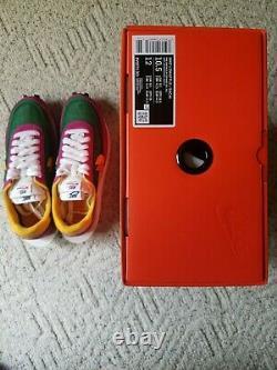 Sacai X Nike LD Waffle Pine Green Homme Taille 10.5 Rose Bv0073-301 Nouveau Avec Boîte