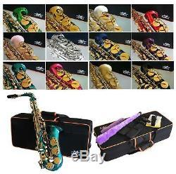 Saxophone Alto Violet Aqua Bleu Noir Blanc Or Argent Nickel Vert Rose Rouge