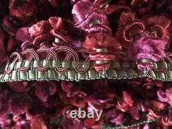 Scalamandre Houles Paris Pink Green Silk Gimp Tassel Trim Passementerie 18 Yards